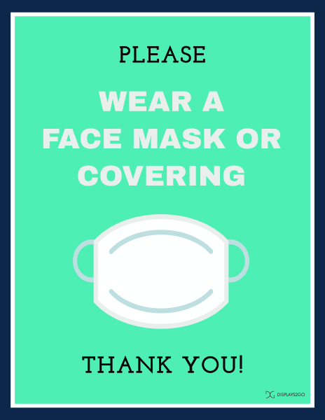 Please wear a mask printable sign in portrait orientation