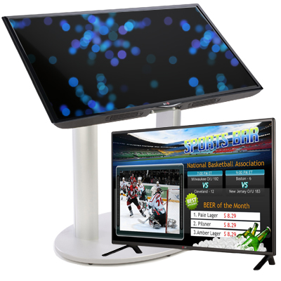 digital signage players and stands