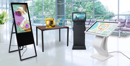 Digital displays for wayfinding, advertising, and marketing
