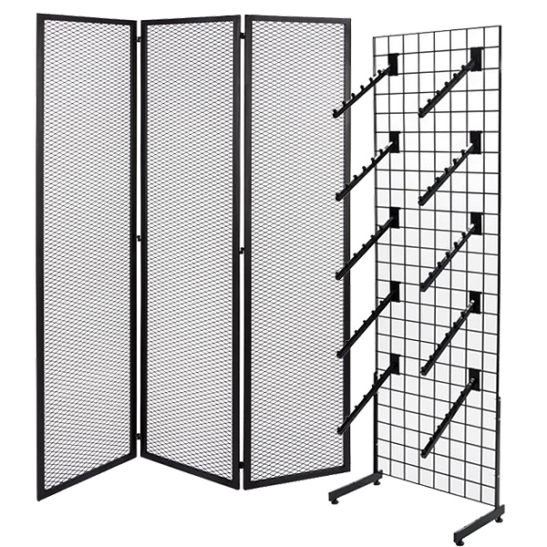 Gridwall store fixtures for dispensaries