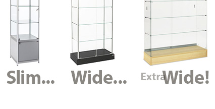 Shop from a wide selection of display case towers in many varied widths