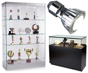 Display cases with LED lights