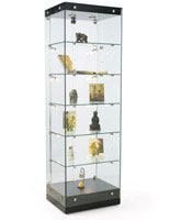 These display show cases are great for displaying collectibles.