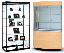 "43""-75"" Wide Display Cases"