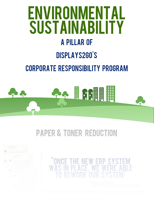 displays2go environmental sustainability infographic