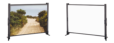 Portable tabletop projection screen