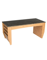 Light Oak Magazine Coffee Table, Scratch Resistant
