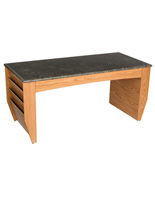 Medium Oak Magazine Coffee Table, Scratch Resistant