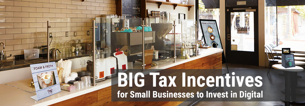 big tax incentives for small businesses to invest in digital products