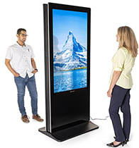floor standing touchscreen kiosk