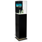 "13"" Square Digital Pedestal Vitrine"