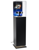 Acrylic Top Multimedia Display Case Pedestal