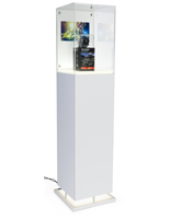 Tall Digital Pedestal Case Display with Plug-n-Play Media
