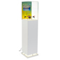 Pedestal Digital Multimedia Display Case with Protective Topper