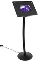 Small digital display stand with user friendly plug n play capabilities