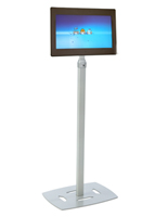 Digital Picture Frame Kiosk w/ Silver Base