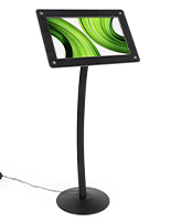 Digital floor sign pedestal with Android operating system
