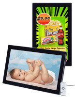 Digital Photo Frame Includes Access To Free Customizable Layouts For Business Advertising