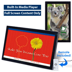 Electronic Photo Frame Includes Pre-Designed Templates for Advertising Use