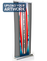 3d banner stand replacement rectangle graphic with retracting capabilities