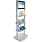 Merchandising Shelves with Digital Sign and LCD Panel