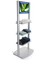 Retail Shelves with Branded Digital Sign and Speakers