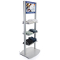 Retail Shelves with Branded Digital Sign and Built-in Media Player
