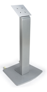 Moveable Vesa Floor Display Stand with Wheels for Malls
