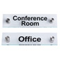 """Conference Room""/""Office"" Door Signs with 1"" Standoffs"