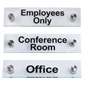 "Acrylic Business Standoff Signs, Mounts .75"" from Wall"