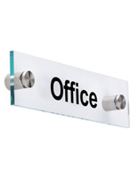 "Acrylic Office Room Signs, 8"" Wide"