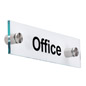 Acrylic Office Room Signs with Standoffs