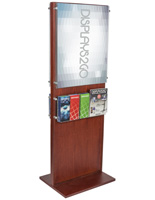 Double-Sided Poster Pedestal With 10 Leaflet Pockets for Distributing Pamphlets