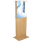 Double-Sided Oak Poster Holder for Airports