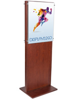 Double-Sided Mahogany Poster Holder for Lobbies