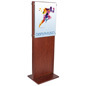 Double-Sided Mahogany Poster Holder for Travel Agencies