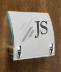 Office Name Sign with Stainless Steel Standoffs