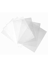 Replacement printable film sheets for DESIGN6CIRC2 with 3 frosted and 3 clear