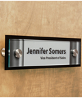 Office Door Name Signs with Stainless Steel Standoffs