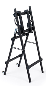 Folding metal TV easel with collapsible design