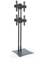 Steel freestanding dual TV stand