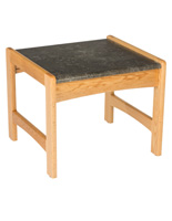 Light Oak Office End Table, Faux Granite