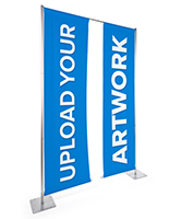 Custom hanging retractable banner stand with personalized graphics
