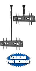 Hanging TV Mount for Two Screens