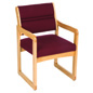 Burgundy Waiting Room Chair, Floor Standing