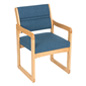 Blue Waiting Room Chair, 400 lbs Weight Limit