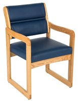 Blue Waiting Area Chair, Weighs 28 lbs