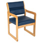 Blue Waiting Area Chair, Easy Assembly