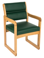 "Green Reception Area Chair, 21.5"" Overall Width"