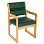"Green Reception Area Chair, 33.5"" Overall Height"